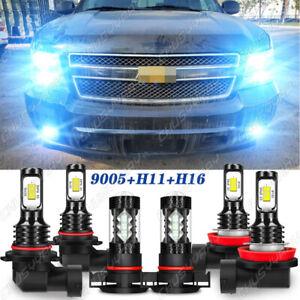 Para For Chevy Suburban Tahoe 2007-2014  Faros LED Bombillas de luz antiniebla