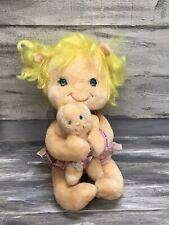 Vtg 1985 Kenner Hugga Bunch Precious Hugs & Baby Plush Doll Set