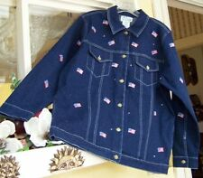 Quacker Factory Women's Regular 100% Cotton Jean Coats & Jackets