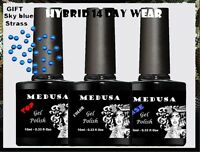 Medusa B275 French Milkey Base UV/LED nail gel polish soak off nail hybrid