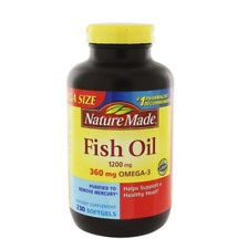 Omega-3 Fish Oil 1200 mg. - 230 Liquid Softgels by Nature Made