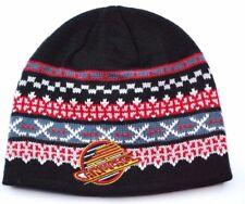 Vancouver Canucks Ccm Classic Nhl Cross Stick Knit Winter Hockey Hat Beanie