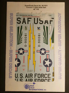1/48 SuperScale Decals 48-1011 Convair F-106A Delta Dart 49th FIS
