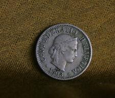 5 Rappen 1903 B Switzerland Copper Nickel World Coin Liberty KM26