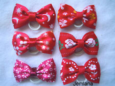 Jemlana's  handmade dog,cat,pet grooming bows (set of 6 bows)