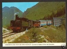 PONT de GUEYDAN (04) TRAIN à VAPEUR