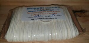 Candle wicking - 30 metres of 2/0 square braided cotton, suit beeswax