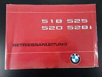 Orig. BMW 5er E12 Handbuch Betriebsanleitung Bedienungsanleitung Bordbuch 1980