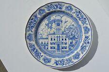 FINE WEDGWOOD CHINA YALE UNIVERSITY SHEFFIELD HALL BLUE & WHITE DINNER PLATE