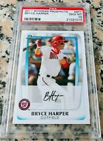 BRYCE HARPER 2011 Bowman #1 Draft Pick Rookie Card RC PSA 10 GEM MINT Phillies $