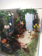 Room box Diorama Garten