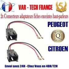 2x Connecteurs adaptateurs fiches enceintes haut-parleur Citroen Peugeot NEUF