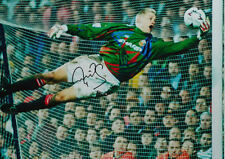 PETER SCHMEICHEL SIGNED 16x20 MANCHESTER UNITED FOOTBALL PHOTO COA & PROOF