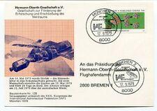 1979 Hermann Oberth Gesellschaft V. Munchen 2 Bremen Deutsche Bundespost SPACE