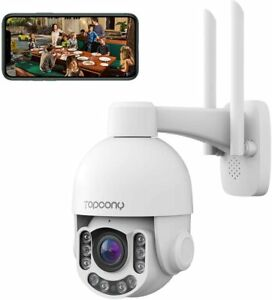 5MP Security Camera Outdoor, Topcony Wifi IP Home CCTV Camera System with Color