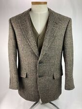 Vintage Burberry Men's Tweed Brown Glen Plaid Sports Coat Blazer 40S