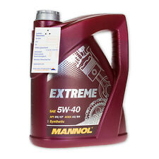 5 Liter MANNOL SAE 5W-40 Extreme Motoröl API SN/CF, ACEA A3/B4, GM LL-A/B-025
