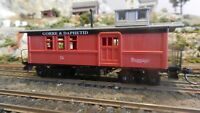 Roundhouse MDC HO John Allen Tribute G&D Drovers Caboose, Upgraded