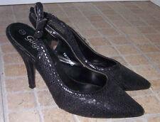Business Slingback Wet look, Shiny Heels for Women