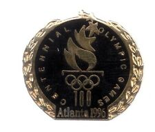 1996 Atlanta Centennial Olympic Games Pin Black Wreath