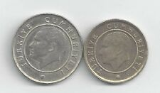 2 DIFFERENT COINS from TURKEY - 10 & 25 KURUS (BOTH DATING 2011)
