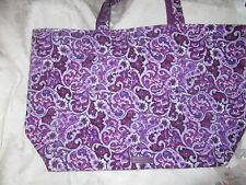 2cc66ab37 Vera Bradley Dillards Exclusive Lilac Paisley Iconic Grand Tote 50% NWT OFF