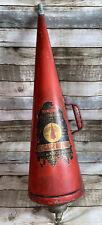 More details for old vintage retro antique fire extinguisher decorative minimax cone steampunk