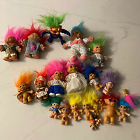 Vintage Troll Doll Lot Russ Dam Korea Applause Lot of 21