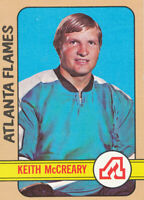 1972-73 Topps #27 Keith McCreary Hockey Card Atlanta Flames
