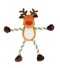 Goodboy Christmas Dog Toys - Festive Hug Tug Reindeer - Rope Limbs & Squeak 30cm