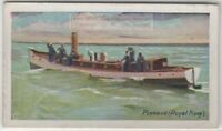 Pinnacle Ships Boat Row Tender Royal Navy England 85+ Y/O Trade Ad Card