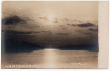 1906 RPPC Pittston PA When River Reflects Sun Luzerne Harris REAL PHOTO Postcard