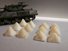 1:72 or 1:76  ANTI-TANK OBSTACLES resin diorama modelling accessories kit