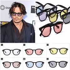 Occhiali da Sole Geek - Nero - Lenti Colorate - Modello Johnny Depp