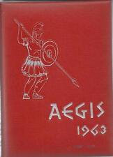1963 EAST LONGMEADOW HIGH SCHOOL YEARBOOK, THE AEGIS, EAST LONGMEADOW, MA