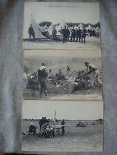 lot 3 CPA CAMP DE MAILLY Campement artillerie déjeuner officiers piou piou POILU