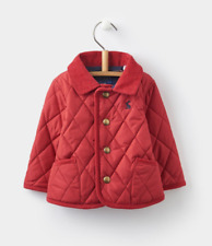BNWT Joules Milford Unisex Quilted Jacket Popper Fastening Cord Trims Red 9-12