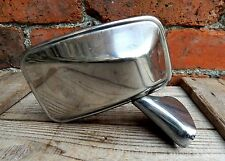 Vintage Classic Car Wing Driver Side Mirror Chrome Stainless Steel Made England