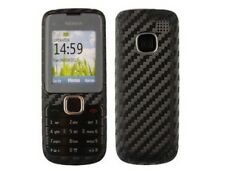 Skinomi Black Carbon Fiber Full + Screen Protector for Nokia C1-01