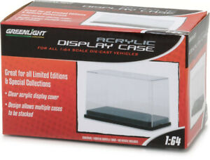 55025 Greenlight Collectibles 1:64 Acrylic Case with Plastic Base Stackable NEW!