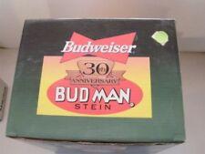 1999 Budweiser Stein Limited Edition BUD MAN 30th ANNIVERSARY New In Box