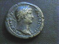 ROMAINE/ HADRIEN 117-138. SESTERCE. R/ LA FORTUNE. ROME 133.