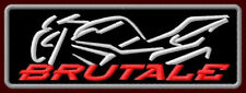 """MV AGUSTA BRUTALE EMBROIDERED PATCH ~5"""" x 1-3/4"""" MOTORCYCLE NAKED BIKE RACING"""
