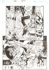 Aquaman #68 p.10 - Tempest Blasts Ocean Master - 2000 art by Steve Epting Comic Art