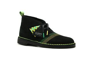 NEW MEN CLARKS ORIGINAL DESERT BOOT LIMITED EDITION JAMAICA BEE BLACK SUEDE BOOT