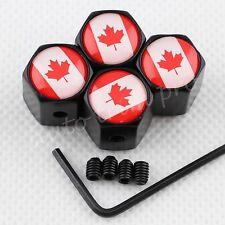 Wheel Screw Valve Stem Air Dust Caps Tire Tyre Cover CA Canada Flag Antitheft 4X