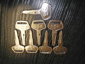 1//5PC 787 Bagger Schlüssel für fit Komatsu Bagger Zündschlüssel Schlüssel GE