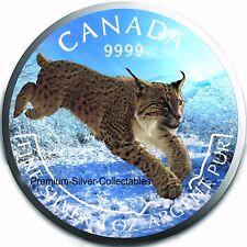 "2017 Canada Predator Colorized Lynx ""Winter"" Coin - 1 Ounce Pure Silver .9999!"