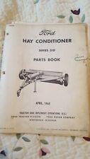 Ford Series 510 Hay Conditioner Parts Catalog Manual Book  1965 Original