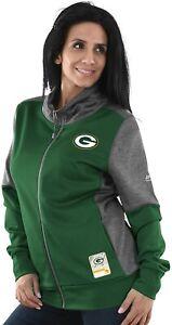 """Green Bay Packers Women's Majestic NFL """"Speed Fly"""" Full Zip Fleece Jacket"""